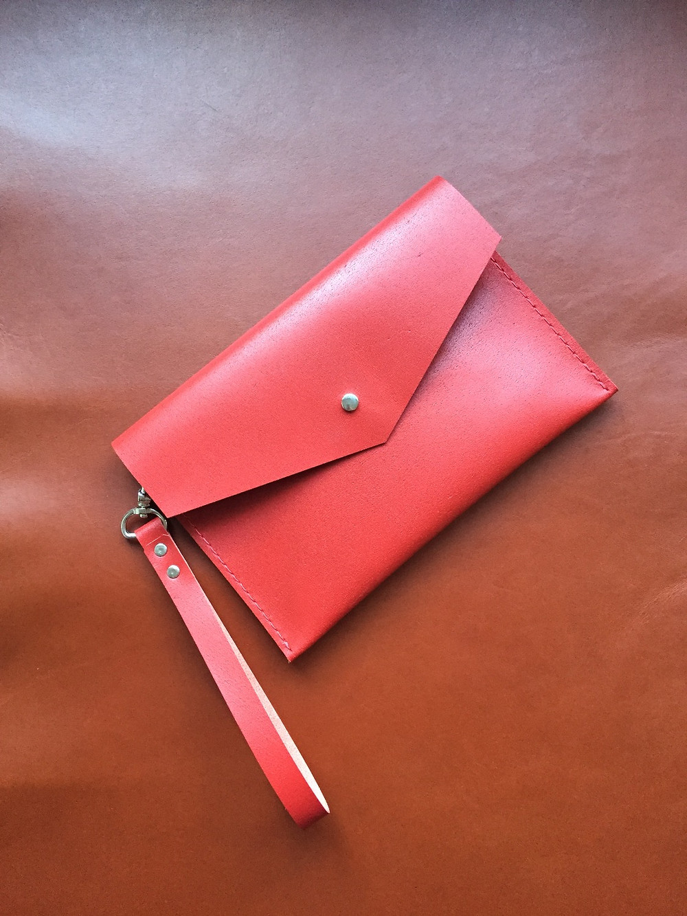 Hand Stitched Leather Clutch