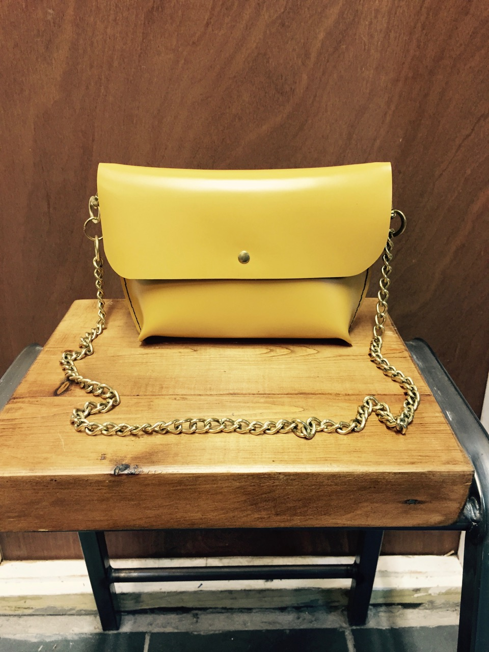 Summer's calling with this mustard yellow leather!