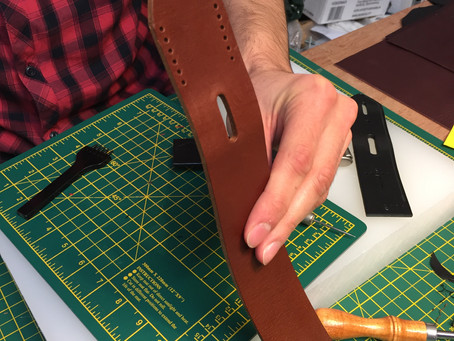 Belt Making - the bit you don't usually see!