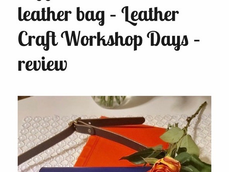Thinking of joining our Leather Workshops?