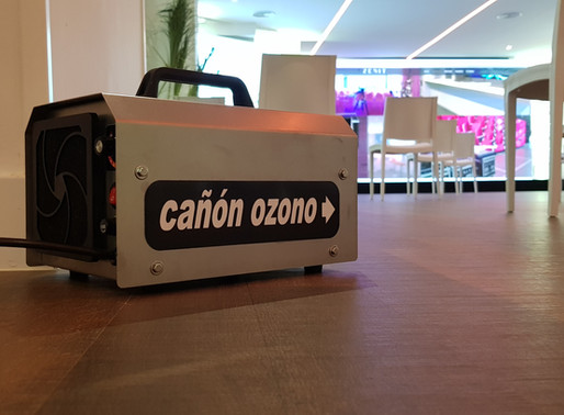 Cañón de ozono para una desinfección total después del uso del espacio.