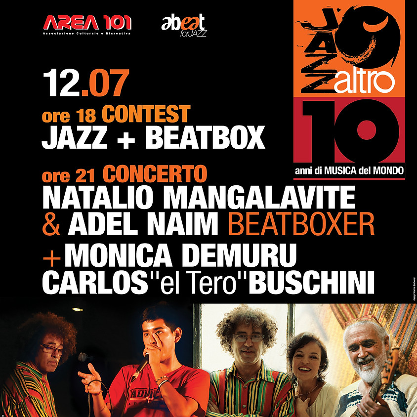 Contest Beatbox/Freestyle/Rap/Jazz Concerto Mangalavite & Naim - Jazz&Beatbox ospiti Demuru e Buschini