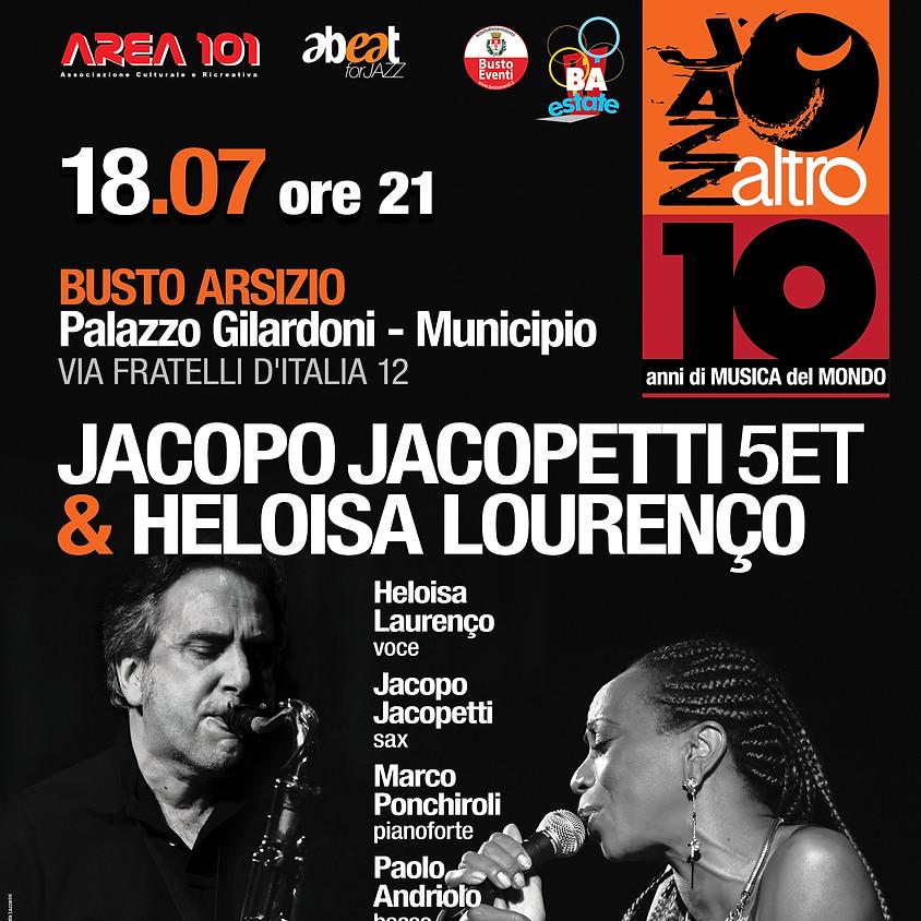JAZZaltro 2019 - JACOPO JACOPETTI QUINTETTO feat HELOISA LOURENÇO