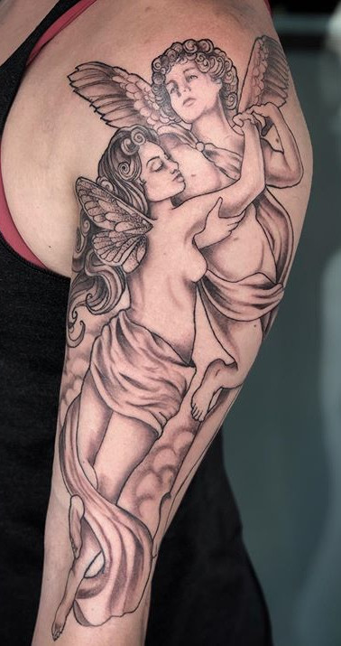 Cupid and Psyche, based off of 'L'amour