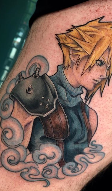 Finished up this Cloud Strife tattoo yes