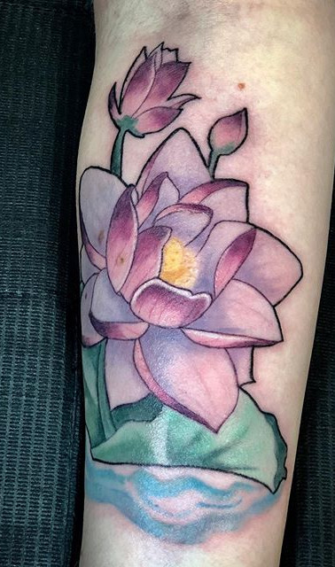 Loved working on this lotus flower. I wo