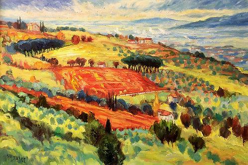 "Maurer : ""Hills of Lucca, Italy"""