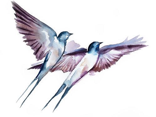 "Becker: ""Swallows in Flight No. 38"""