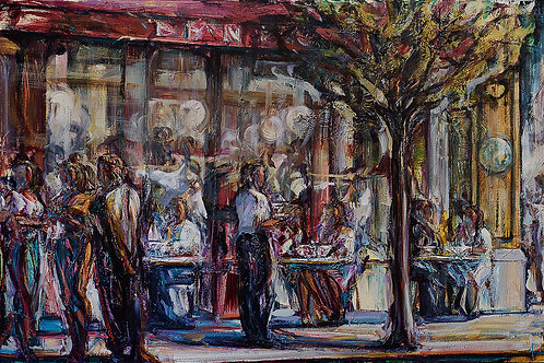 """Yankell: """"Cafe Blue Planet in Sunlight"""""""
