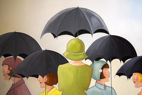 "Ladd: ""Ladies with Umbrellas"""