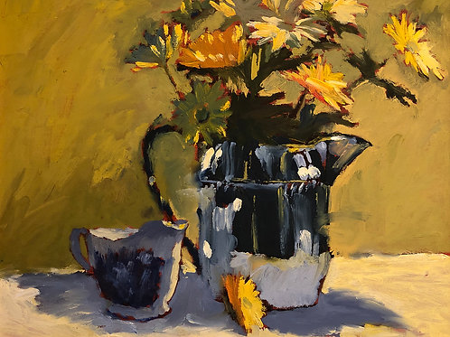 """Phillips: """"Yellow Daisies at the Kitchen Table"""""""
