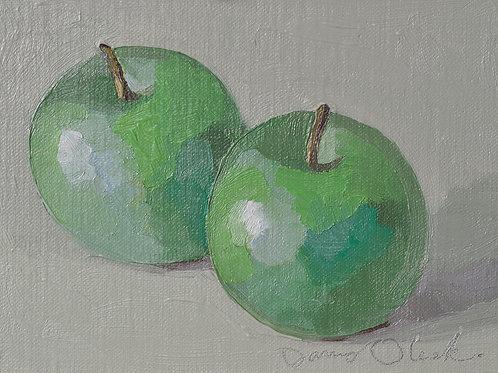 "Oleski: ""Two Green Apples"""