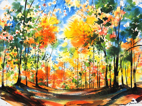 """Toribe: """"Autumn Leaves with Blue Sky"""""""