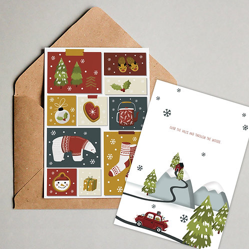 8-Pack Nordic Christmas Cards