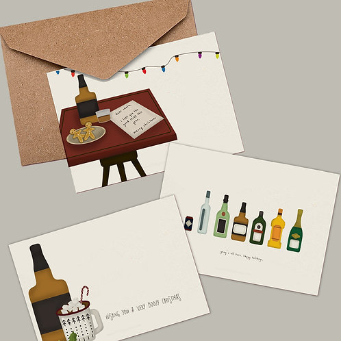 12-Pack Boozy Christmas Cards