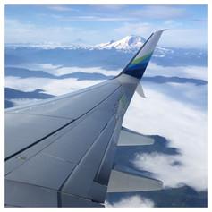 Flying over Mt. Rainier. 2017