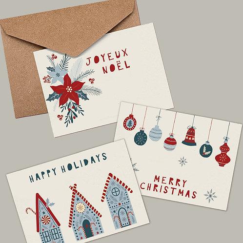Scandinavian Christmas Card Set