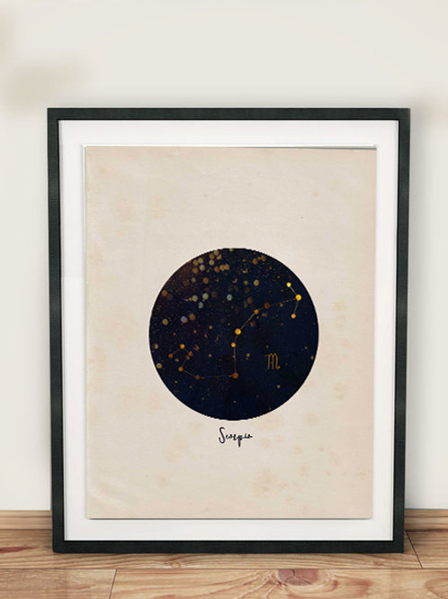 Zodiac Constellation Print