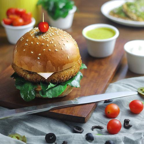 Traditional Aloo Tikki Burger