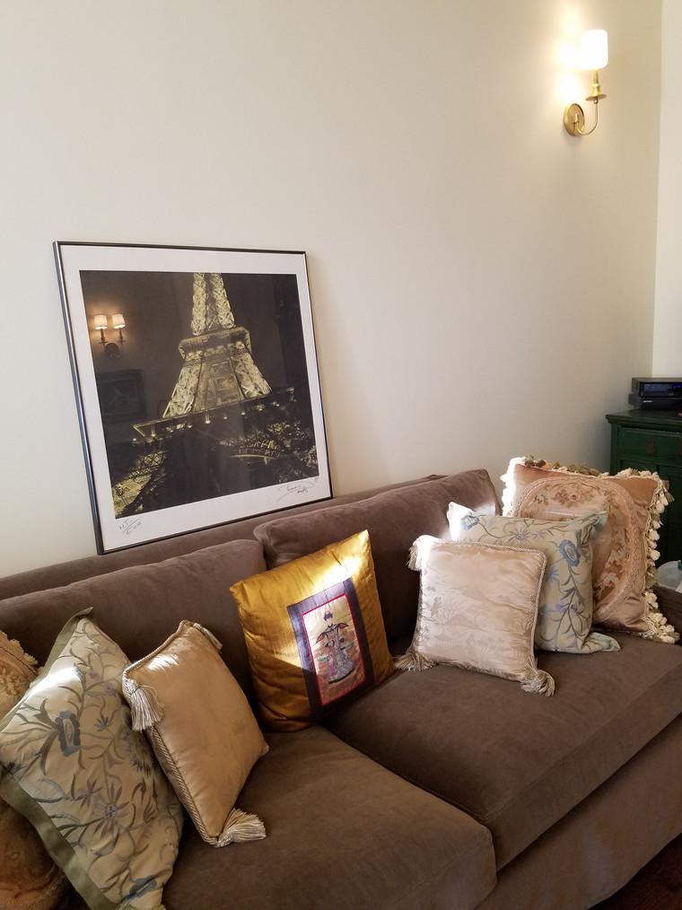 Mocha Velvet Sofa