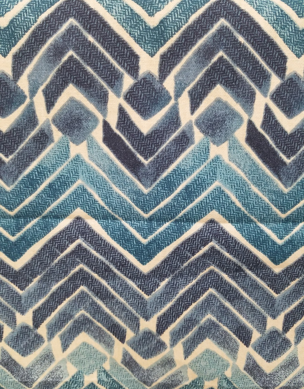 Bold, Blue Stylized Argyle Fabric
