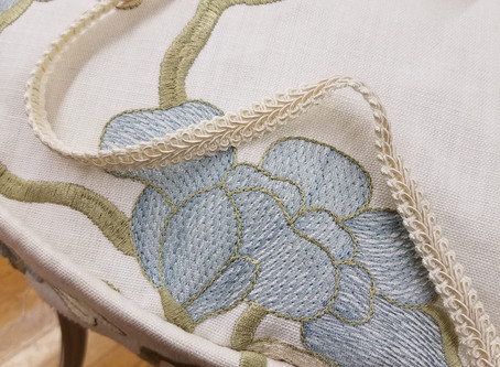 Re-upholstering a Vintage Chair:  Let's Talk Fabrics