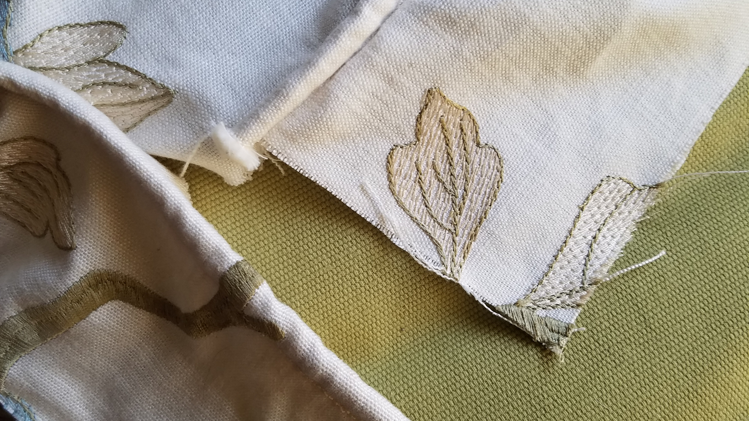 Newly sewn in welting