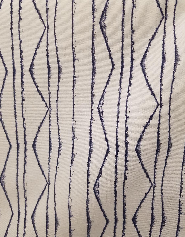 Graphic, ethnic striped fabric
