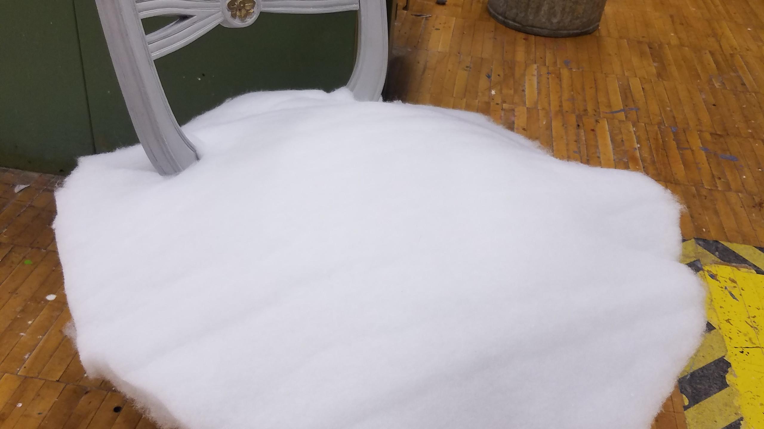 Cut dacron seat cushion