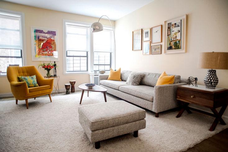 Mid-century Modern NYC Living Room