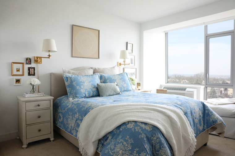 French Blue Master Bedroom