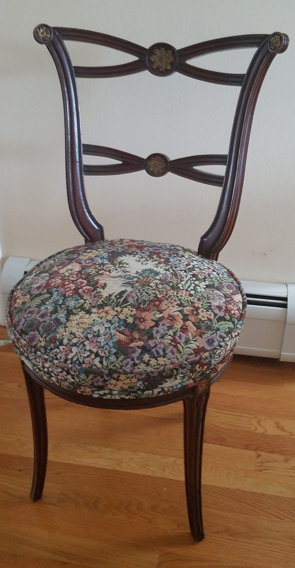 Vintage reproduction wood chair, circa 1940's