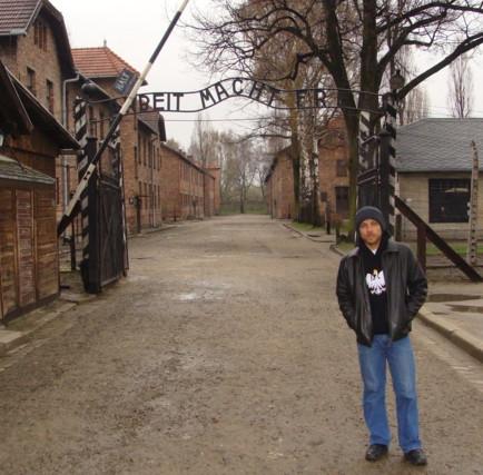 entrada de Auschwitz na Polônia