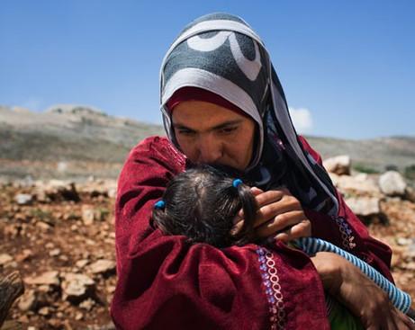 mãe refugiada