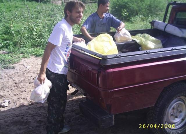 Ajuda com alimentação em lugares inóspitos