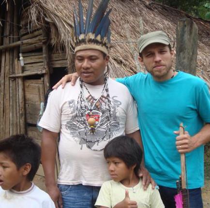 Cacique da tribo Guarani