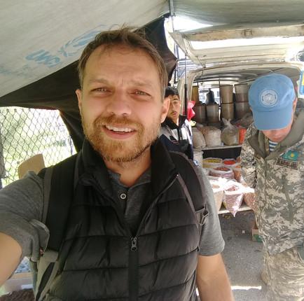 COm soldados do Cazaquistão (servindo pela ONU) no Oriente Médio