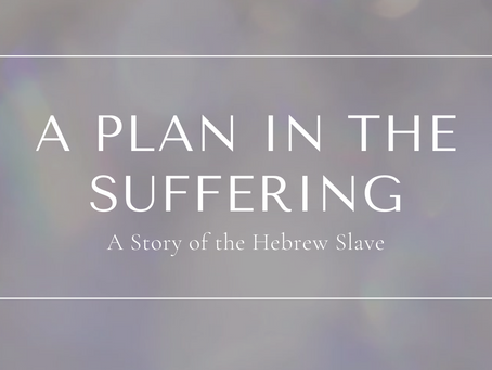 A Plan In The Suffering