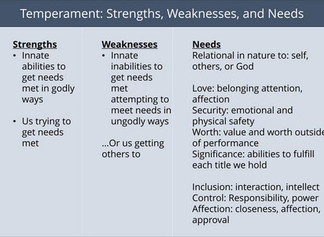 Temperament Strengths and Weaknesses