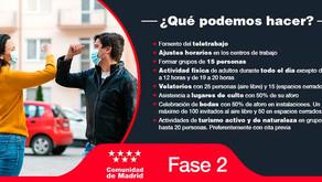 Madrid, en Fase 2