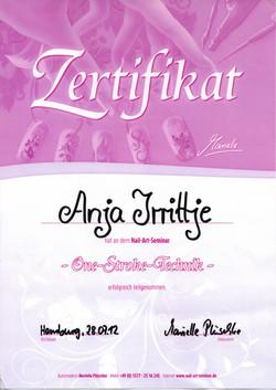 Zertifkat Marielle Plüschke