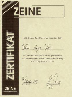 Zertifkat Zeine