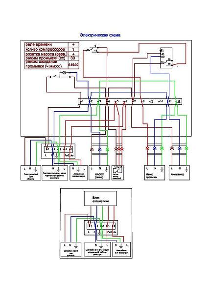 Электрическая принципиальная схема очистной станции БИОКСИ 1МП