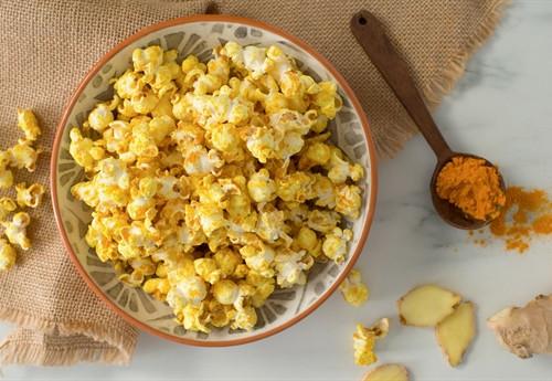 Ginger Turmeric Popcorn