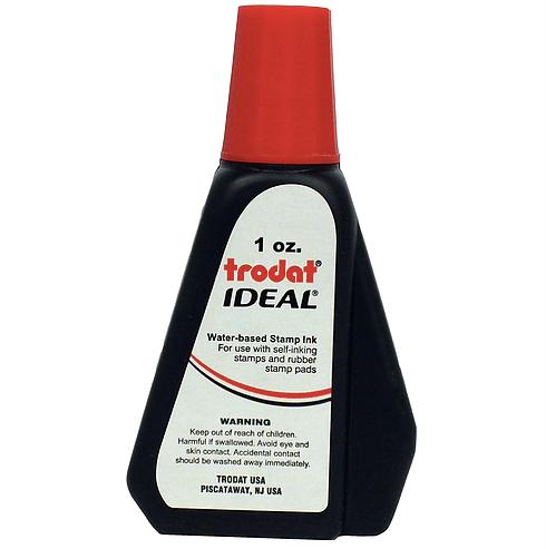 Trodat/Ideal Refill Ink 1 oz, Red