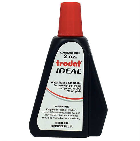 Trodat/Ideal Refill Ink 2 oz, Red