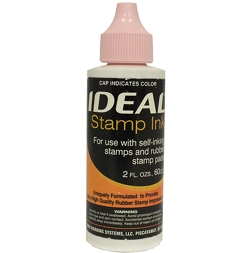 Trodat/Ideal Refill Ink 2 oz, Brite Pink