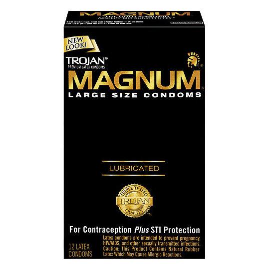 Trojan Magnum L or XL x 12 Condoms