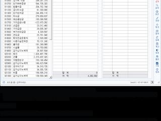 [세무사랑2 회계관리]부서/사원별 초기이월