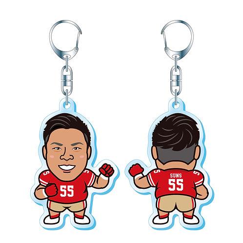 【キーホルダー】中谷武史選手(背番号55番)